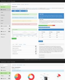 扁平风格网站响应式布局html5后台管理模板下