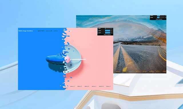 WebGL全屏动画转换文本特效房地产项目规划设计图像图片