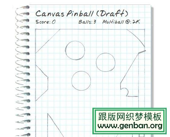 Canvas Pinball