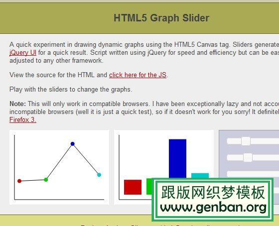 HTML5 Graph Slider