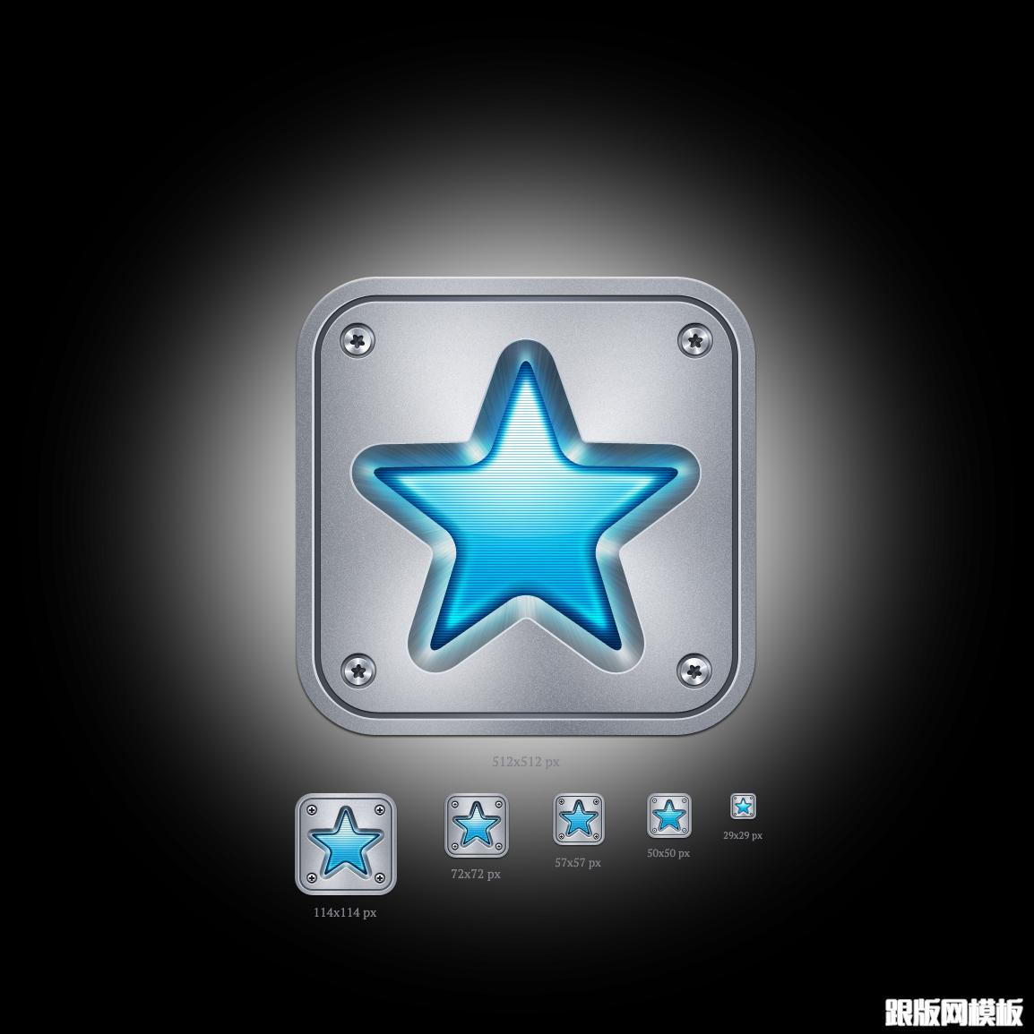 一组免费的苹果ios图标跟app应用界面设计