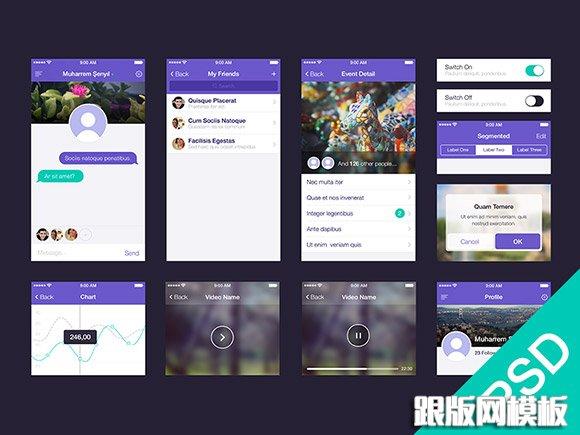 5套app界面设计psd素材免费下载|app设计模板