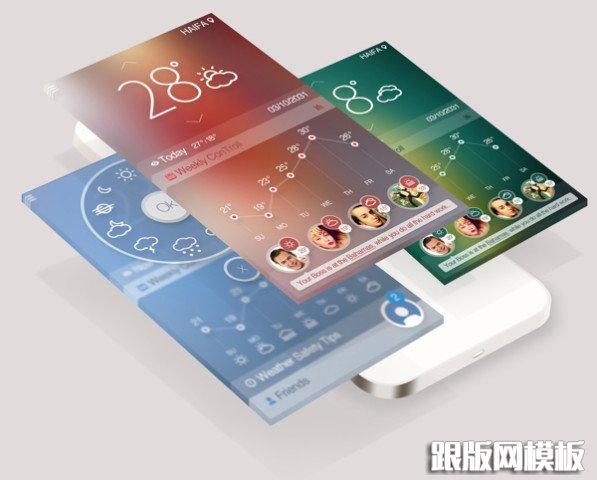 一套非常漂亮的天气控制主题app界面设计欣赏