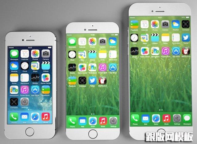 iphone4s,iphone5s和iphone6屏幕尺寸对比图-app设计