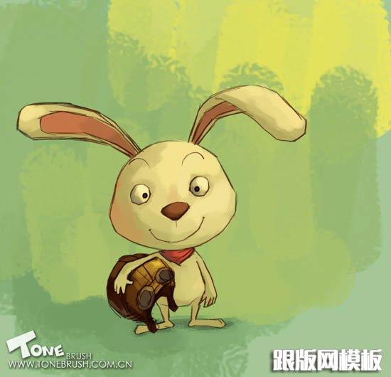 ps鼠绘一只非常可爱的卡通小兔子